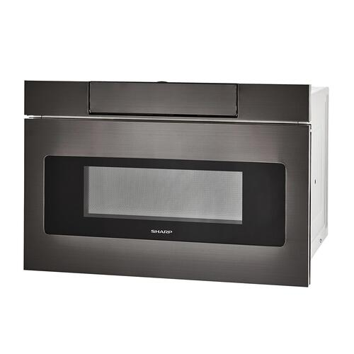 24 in. 1.2 cu. ft. 950W Sharp Black Stainless Steel Microwave Drawer