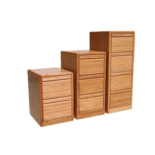 "O-C648 Modern Oak 4-Drawer Locking Vertical File Cabinet, 21""W x 20""D x 53 3/4""H"
