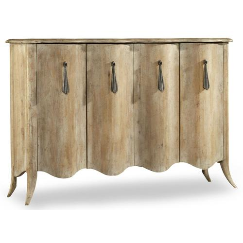 Living Room Melange Draped Credenza
