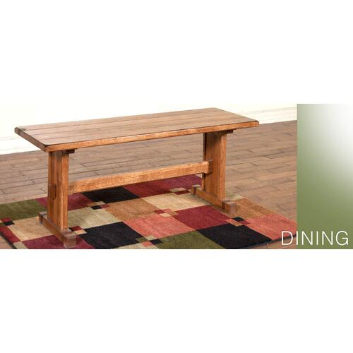 Sedona Side Bench w/ Wood Seat