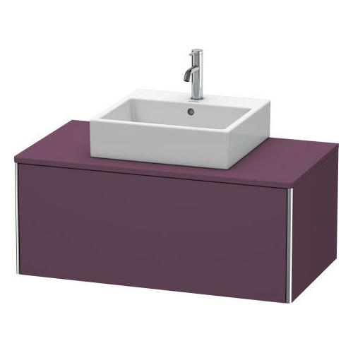 Duravit - Vanity Unit For Console Wall-mounted, Aubergine Satin Matte (lacquer)