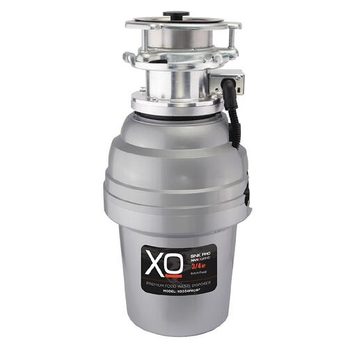 XO Appliance - 3/4 HP 10 Year Warranty, Continuous Feed waste disposer / 3 Bolt mount