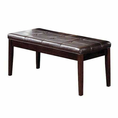 ACME Danville Bench - 07069 - Espresso PU & Walnut