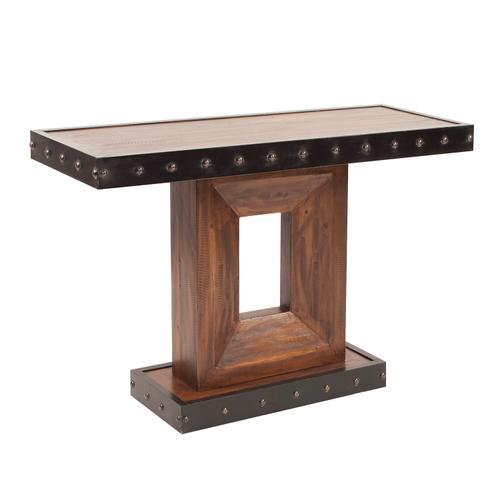 Howard Elliott - Rustic Wood Console Table with Iron Accents