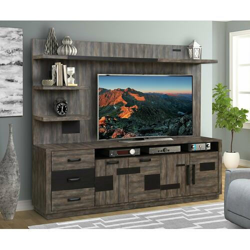 RIVER ROCK TV Console with Hutch