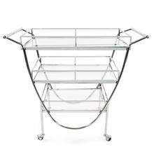 View Product - Stainless Steel Bar Cart on Castors