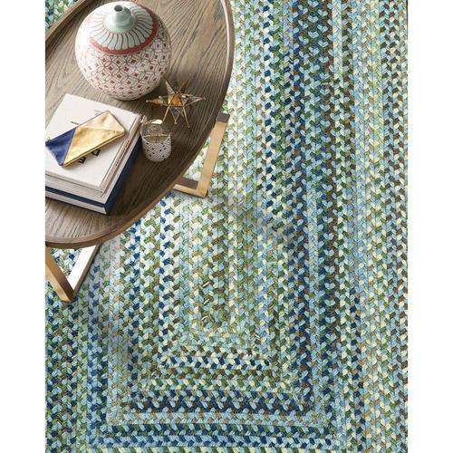 """Capel Rugs - Homecoming Sky Blue - Oval - 8"""" x 28"""""""