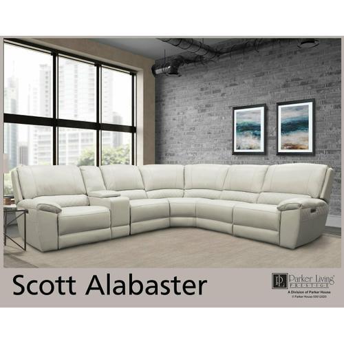 Parker House - SCOTT - ALABASTER Power Armless Recliner