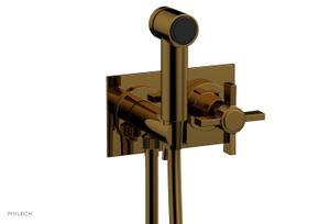 BASIC Wall Mounted Bidet, Blade Cross Handle 137-65 - French Brass Product Image