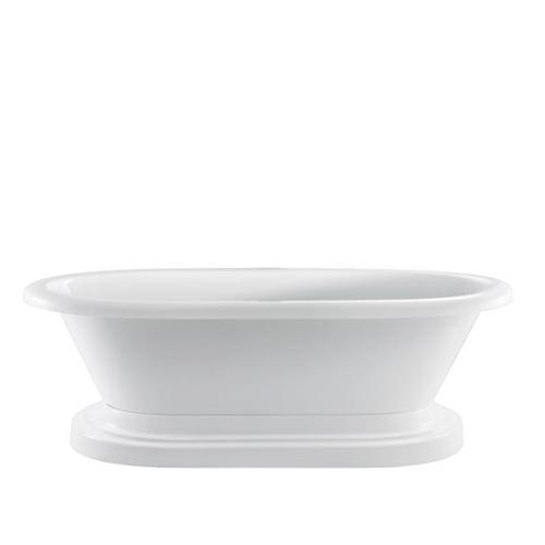 """Product Image - Cordoba 71"""" Acrylic Double Roll Top Tub on Base - No Drillings"""