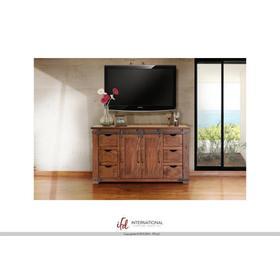 """60"""" TV Stand w/6 Drawer, 2 door w/2 shelves"""