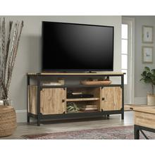 Industrial Metal & Wood TV Credenza with Doors
