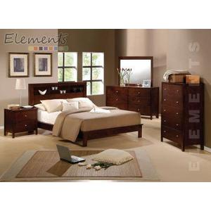 Fleming King Bed with Bookcase