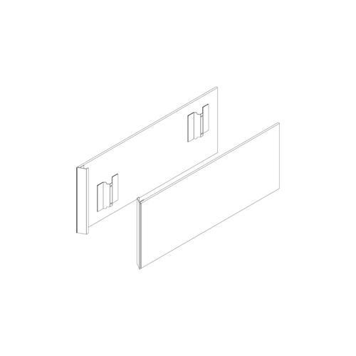"""Cartesian & Profiles 7/8"""" W X 15"""" H X 18-9/16"""" D Pair of Side Kits In Tinted Gray Mirror (includes Glass Panel and Hardware)"""