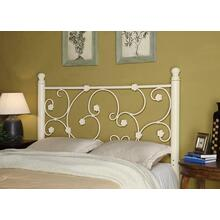 Traditional Floral White Queen/full Headboard