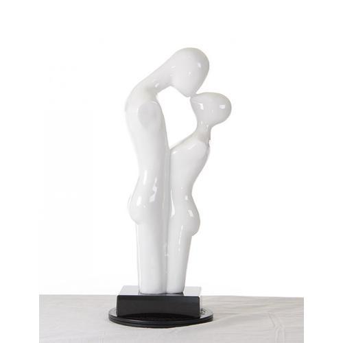 Gallery - Modrest SZ0296 - Modern White Love Sculpture