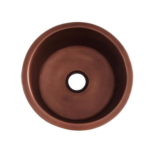 """Verona 18"""" Round Copper Prep/Bar Kitchen Sink"""