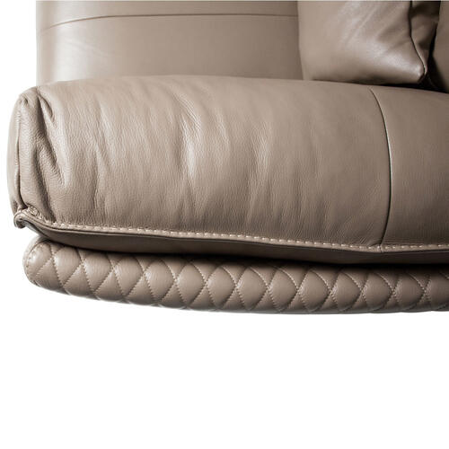 Amini - Monica Leather Loveseat