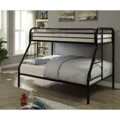 See Details - Morgan Black Twin Full Bunk Bed