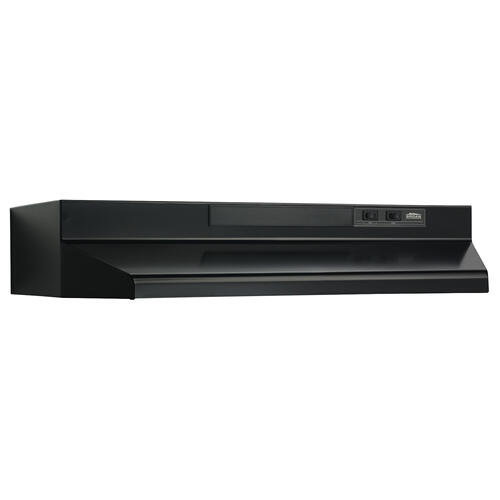 Broan® 30-Inch Convertible Under-Cabinet Range Hood, 160 CFM, Black