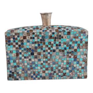 Azul Mosaic Vase Low