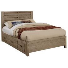 HORIZONTAL PLANK BED 1 side storage unit
