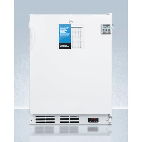 "ADA Compliant 24"" Wide All-freezer for Built-in Use, Manual Defrost With A Nist Calibrated Thermometer, Lock, and -25 c Capability"