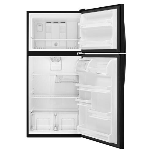 Whirlpool - 30-inch Wide Top Freezer Refrigerator - 18 cu. ft. Black