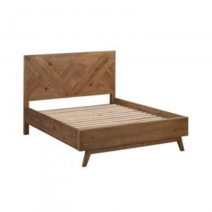 Laval Queen Size Bed Natural Finish