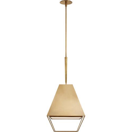 Visual Comfort - Barbara Barry Odeum 2 Light 17 inch Soft Brass Hanging Lantern Ceiling Light, Medium