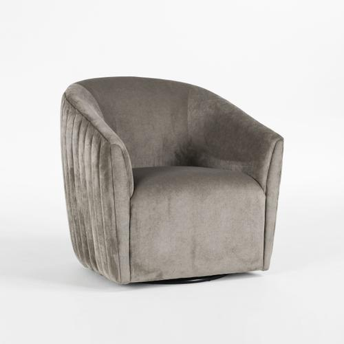 Classic Home - Taylor Swivel Accent Chair Platinum