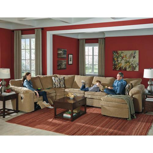 Coats 4-piece Reclining Sectional With Chaise and Sleeper