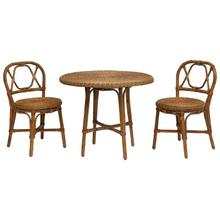"""Product Image - 31-1/2"""" Round x 28""""H Hand-Woven Rattan Bistro Table & 2 - 17"""" Round x 32-3/4""""H Chairs, Set of 3, KD"""