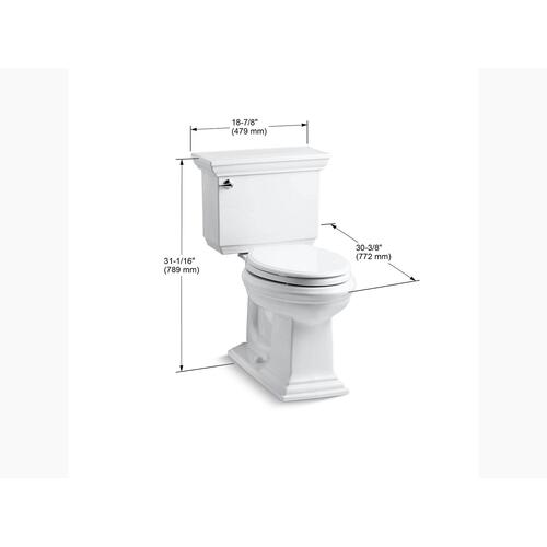White Two-piece Elongated 1.28 Gpf Chair Height Toilet