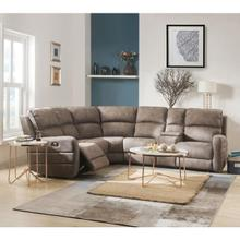 OLWEN MOCHA SECTIONAL SOFA