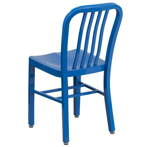 Blue Metal Indoor-Outdoor Chair