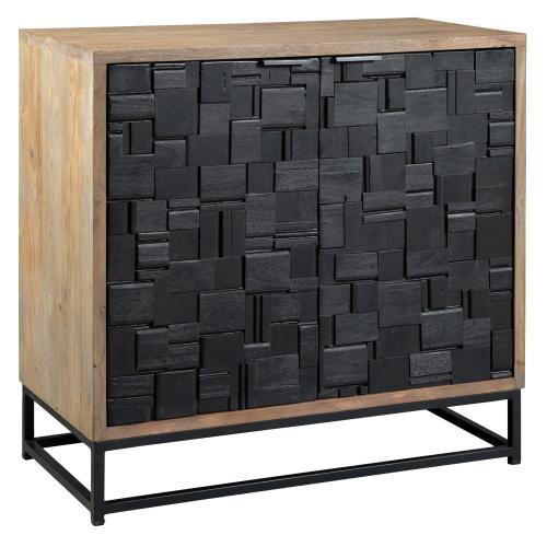 Hekman - 2-8341 Scrap Parquet Door Cabinet