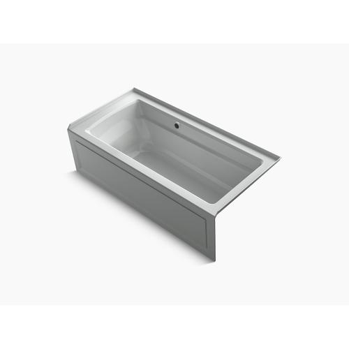 "Ice Grey 66"" X 32"" Alcove Bath With Bask Heated Surface, Integral Apron, Integral Flange, and Right-hand Drain"