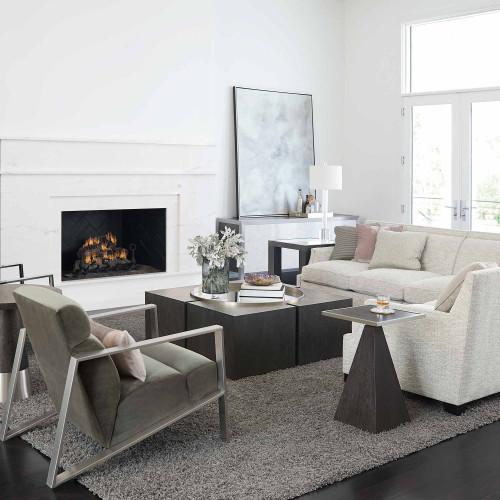 Decorage Entertainment Console in Cerused Mink (380)