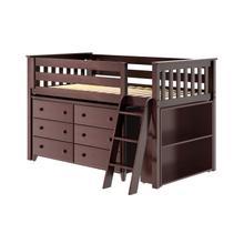 See Details - Twin Loft + Dresser + Bookcase Espresso