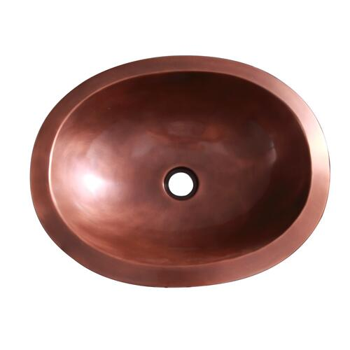 "Finn 19"" Oval Copper Lavatory Bowl"