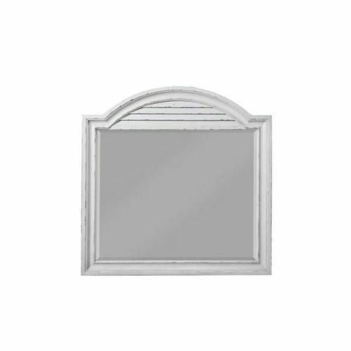 ACME York Shire Mirror - 28274 - Country-Cottage, Provincial - Mirror, Wood (Poplar), Wood Veneer (Hickory), MDF, PB, Ply - Antique White