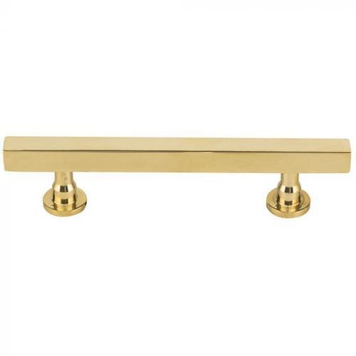 Vesta Fine Hardware - Dante Pull 3 3/4 Inch (c-c) Unlacquered Brass Unlacquered Brass