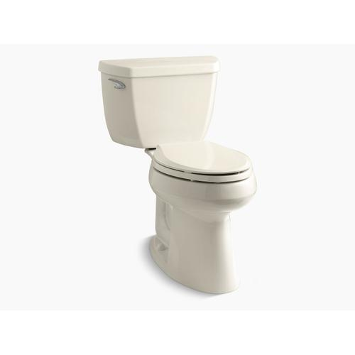 """Kohler - Almond Two-piece Elongated 1.28 Gpf Chair Height Toilet With 10"""" Rough-in"""