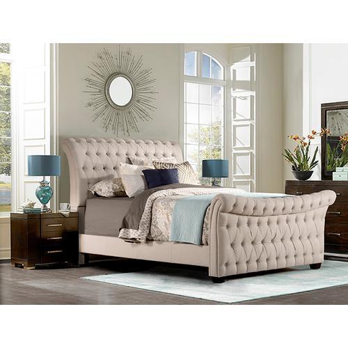 Hillsdale Furniture - Richmond Queen Bed, Linen Stone