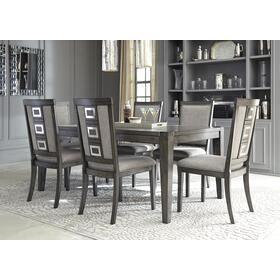 Chadoni Table & 6 Chairs Gray