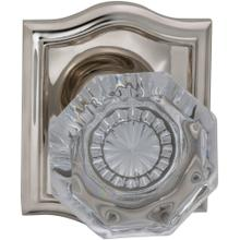 Product Image - Interior Traditional Knob Latchset with Arched Rose in (US14 Polished Nickel Plated, Lacquered)