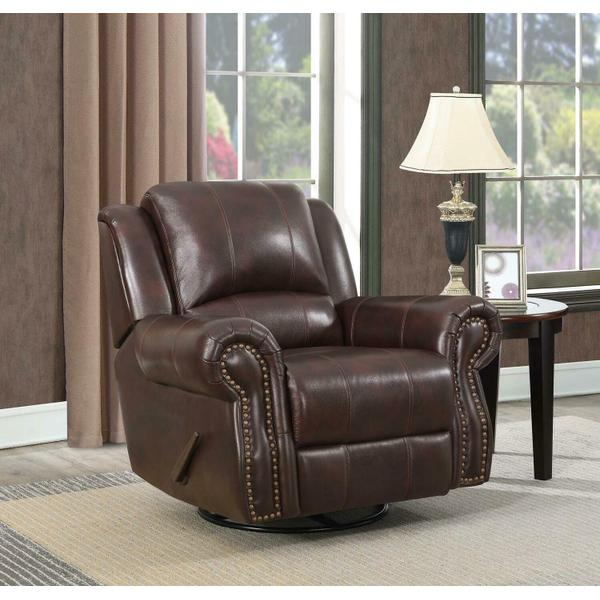 See Details - Sir Rawlinson Traditional Tobacco Glider Recliner