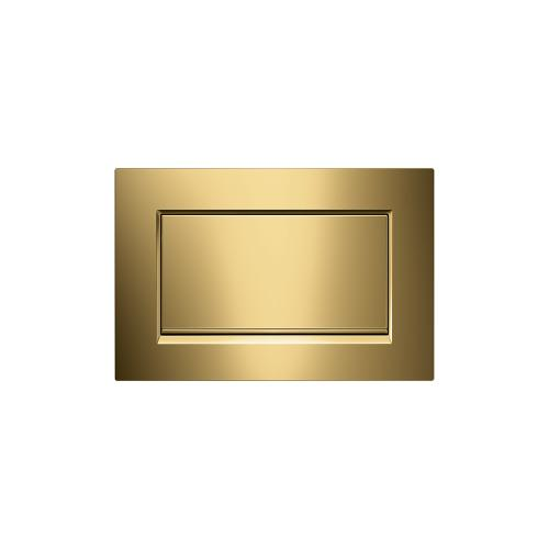 Sigma30 Stop-and-go flush plates for Sigma series in-wall toilet systems Polished gold (with real gold!) Finish