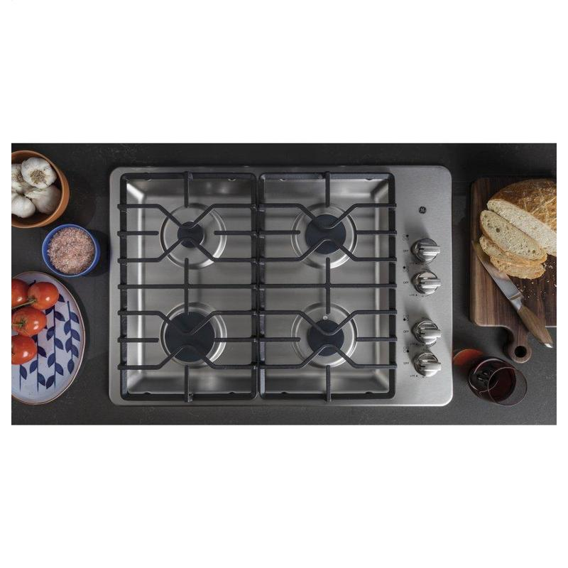 """GE® 30"""" Built-In Gas Cooktop with Dishwasher-Safe Grates"""